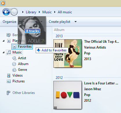 how to create a windows media player playlist