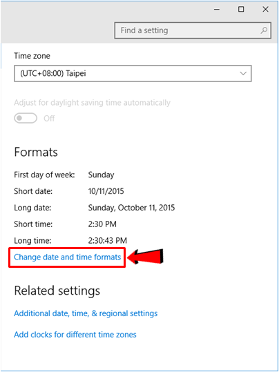 how to change time and date on windows laptop