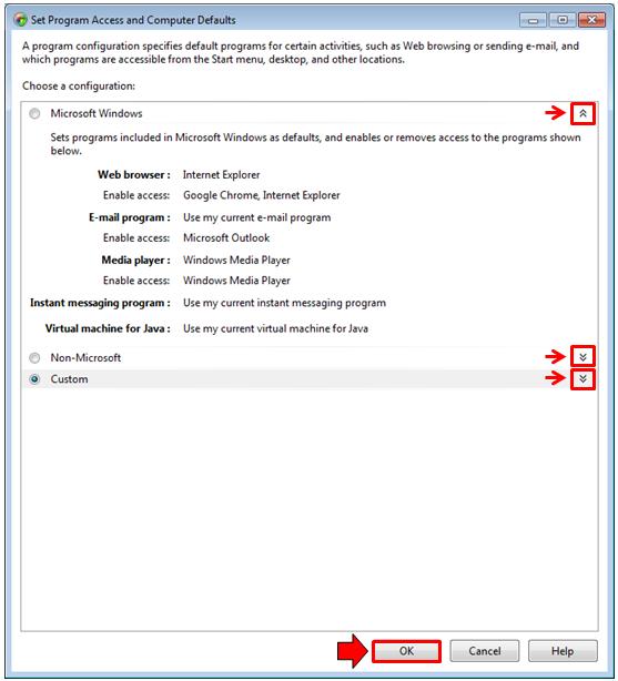 Setting Program Access and Computer Defaults on Windows 7 | Windows